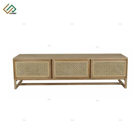 Wooden Furniture 4 Door Rattan Buffet Cabinet pictures & photos