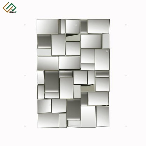 Modern Furniture Rectangle Mirror Crystal Crushed Diamond Mirrored pictures & photos