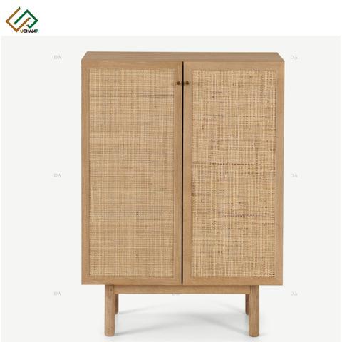 Modern Furniture Rattan Highboard Living Room Wood Cabinets