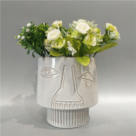 Hot sale ceramic vase dried flower home decoration white ceramic vase pictures & photos