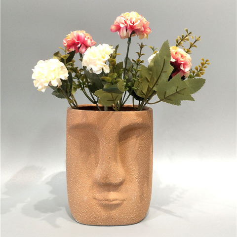 Human face flower pot ceramic flower plant pot for sale pictures & photos