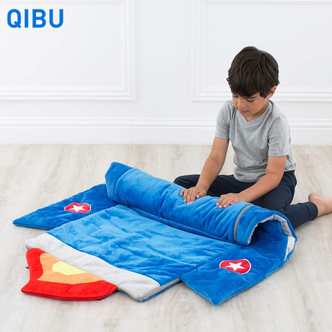 KS1 Qibu fashion rocket style children sleeping bag with pillow lightweight portable kids sleeping bags pictures & photos