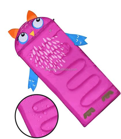 KS15 Qibu hot selling pink cat kids animal sleeping bag lightweight portable kids custom sleeping bags for kids pictures & photos