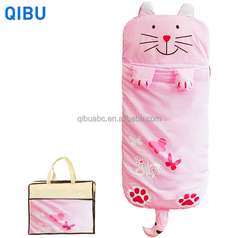 KS27 Best-selling pink cat kids sleeping bag animal lightweight portable organic cotton sleeping bags for girl pictures & photos