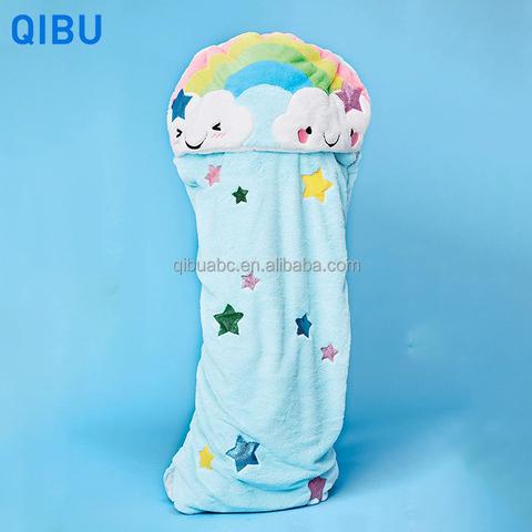 KS8 Qibu cartoon wearable custom sleeping bag lightweight portable blanket sleeping bag for kids pictures & photos