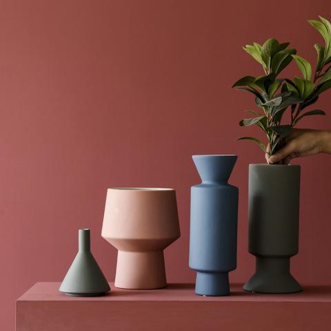 Modern minimalist Morandi style ceramic vase decoration home living room entrance decoration flower model room decoration pictures & photos