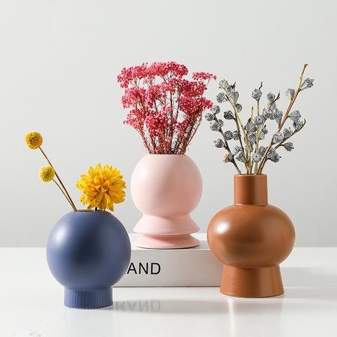 Nordic Morandi Ceramic Vase decoration living room home creative flower arrangement dried flower decorationinsWind Flower device pictures & photos