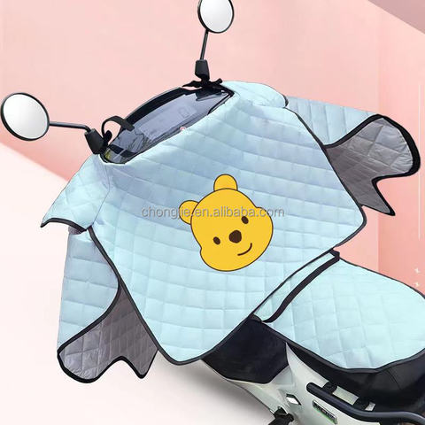 Electric Vehicle Windshield Summer Waterproof Cover Battery Car Sunshade Windshield Universal Motorcycle Windshield